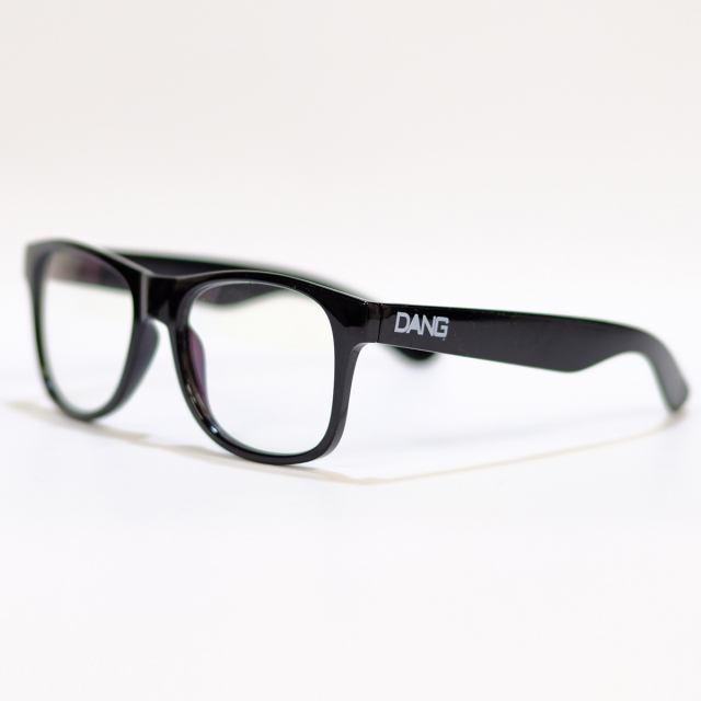Dang Shades vidg00219 LOCO Black Gloss X Clear (Anti-fog / Blue Light Cut)ブルーライトカットレンズ サングラス