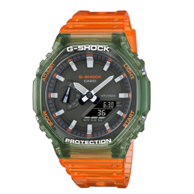 G-SHOCK GA-2100HC-4AJF ジーショック 時計 腕時計 アナログ オレンジ スケルトン
