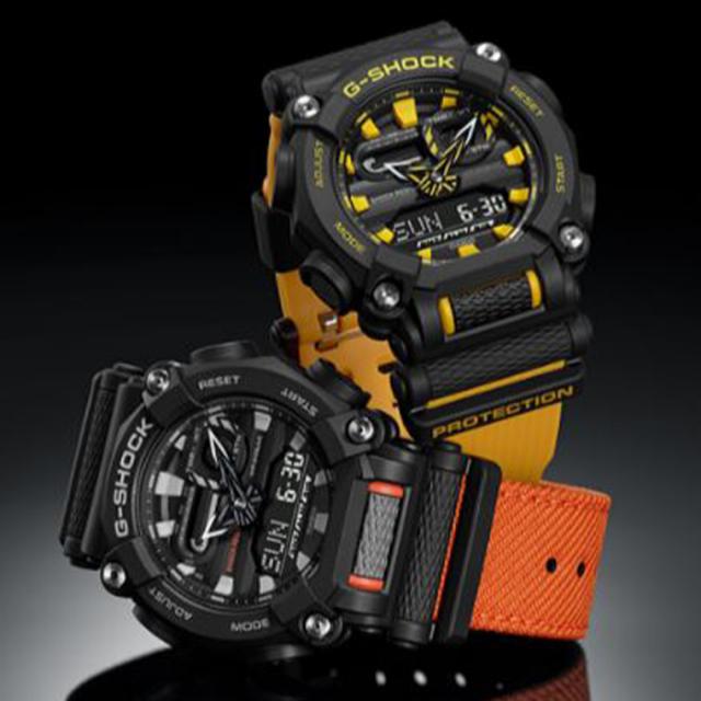 G-SHOCK GA-900C-1A4JF「タフネスウォッチ」ブラック×オレンジ 腕時計