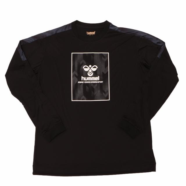 hummel ヒュンメル HAPB7029 長袖シャツ ロングスリーブ ポリエステル100% ロングTシャツ