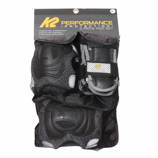 K2 インラインスケート 大人 メンズ レディース プロテクター パッド3点セット RIDER PRO PADSET BLACK