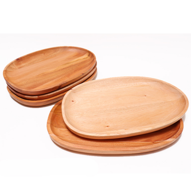木のぬくもり雑貨 Creer(クレエ) NEIN MARKE 9210-0005 マホガニー プレートL ウレタン塗装 色柄1点もの