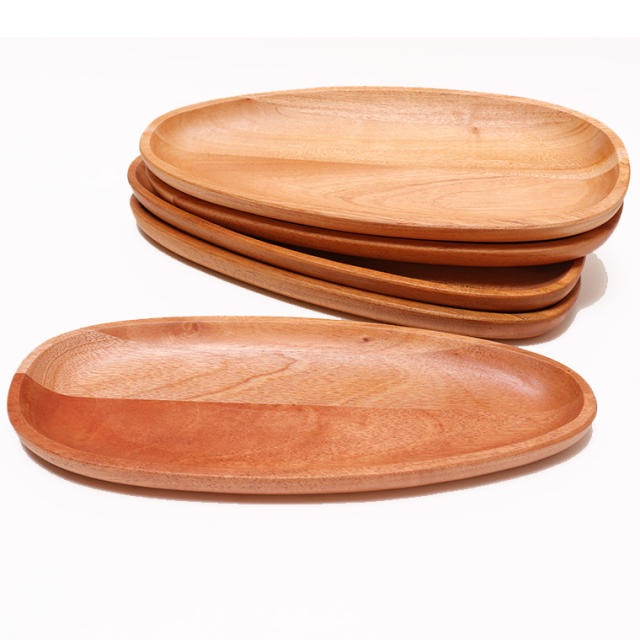 木のぬくもり雑貨 Creer(クレエ) 9210-0006 マホガニー プレートロング ウレタン塗装 色柄1点もの