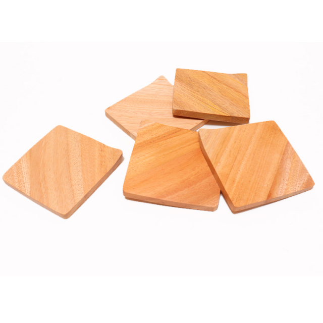 木のぬくもり雑貨 Creer(クレエ) 9210-0003 マホガニー スクエア コースター ウレタン塗装 色柄1点もの