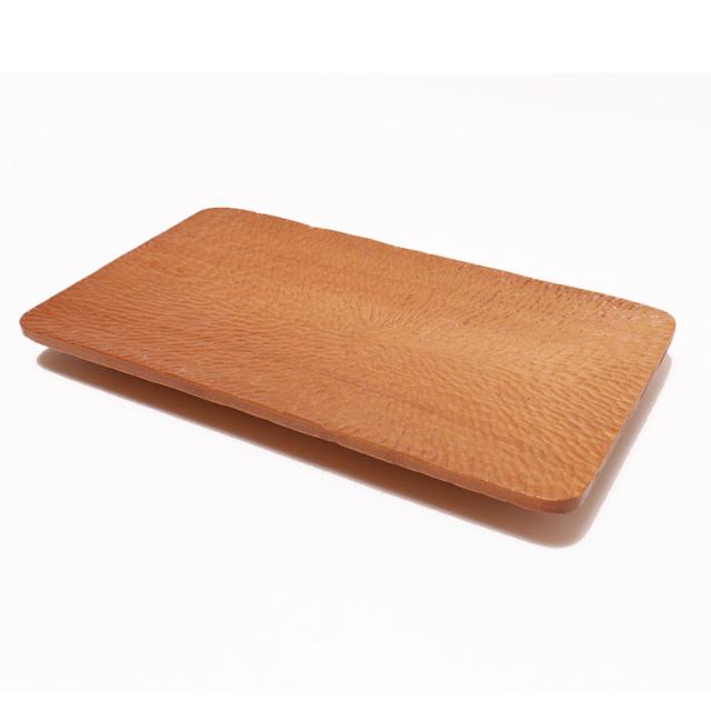 木のぬくもり雑貨 手作り 木製食器 手彫り 皿 色柄1点もの 蜜ろう塗り加工