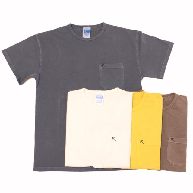 ROKX(ロックス) RXMS204063 MG POCKET TEE ポケットTシャツ 後染めの雰囲気あるTシャツ  半袖シャツ