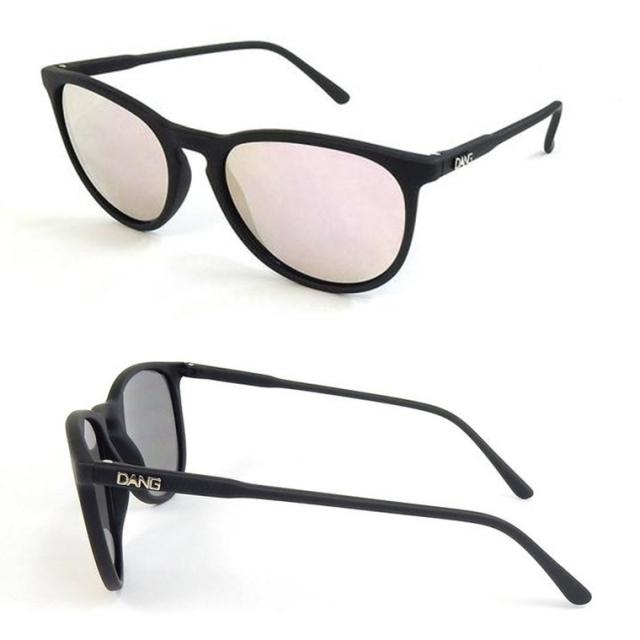Dang Shades サングラス vidg00336-1 FENTON Black Soft/Rose Mirror Polarized(偏光レンズ)