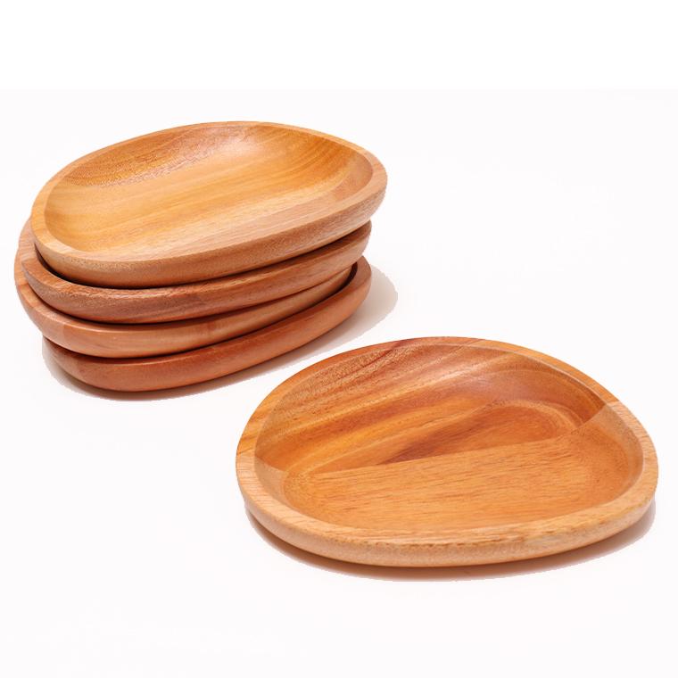 木のぬくもり雑貨 Creer(クレエ) 9210-0004 マホガニー プレートS ウレタン塗装 色柄1点もの