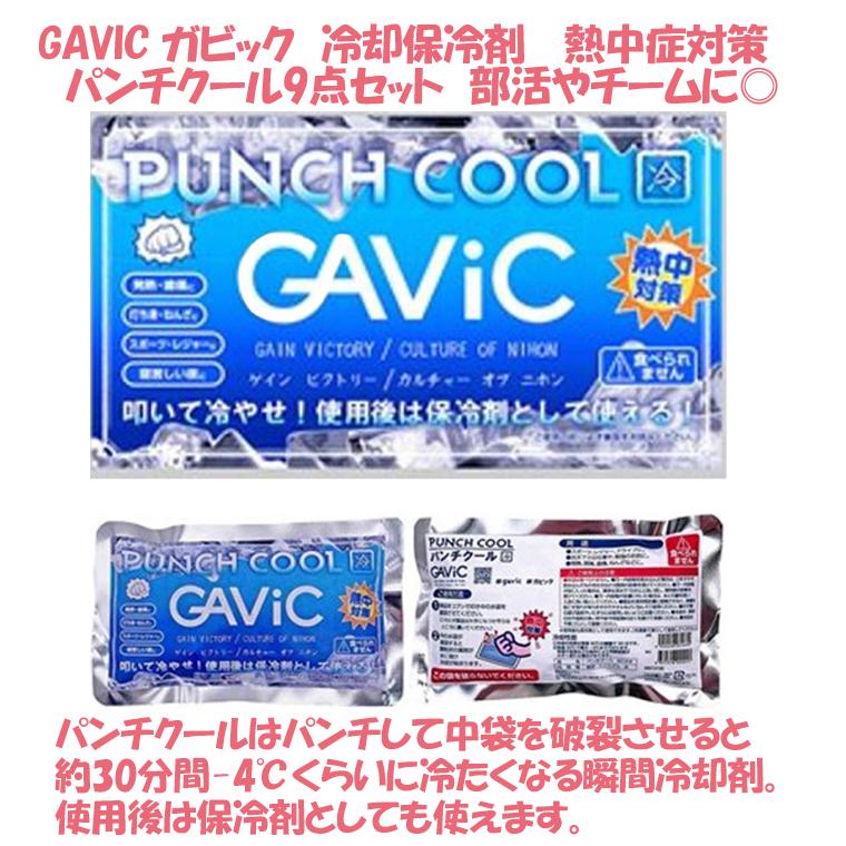 GAVIC ガビック 冷却保冷剤 パンチクール 熱中症対策 9点セット 部活 チーム スポーツ アウトドア