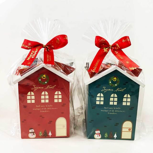 クリスマスおかしの詰め合わせ【クリスマスハウスウッドボックス(2種アソート)】