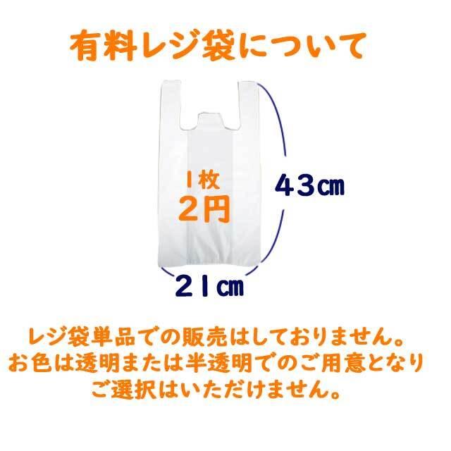 レジ袋1枚2円になりました。