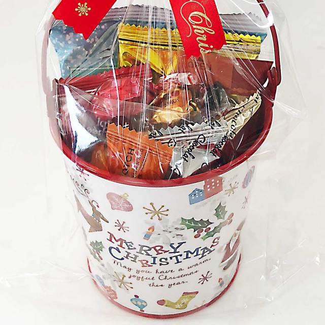 クリスマスプレゼントに♪ちょぴり豪華な詰め合わせ☆【クリスマスホワイトブリキバケツ】