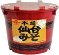 本場仙台みそ(辛口)2kg化粧樽