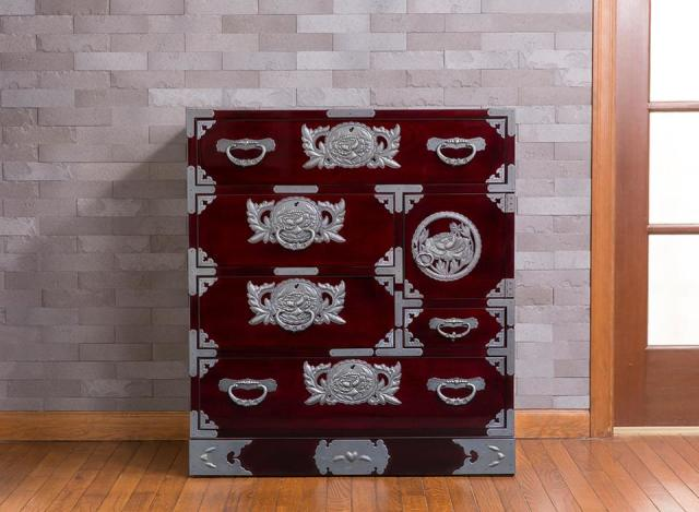 仙台箪笥 手許箪笥 KB-1/KEB-1/KR-1 木地呂漆塗り/朱色漆塗り/伝統色漆塗り