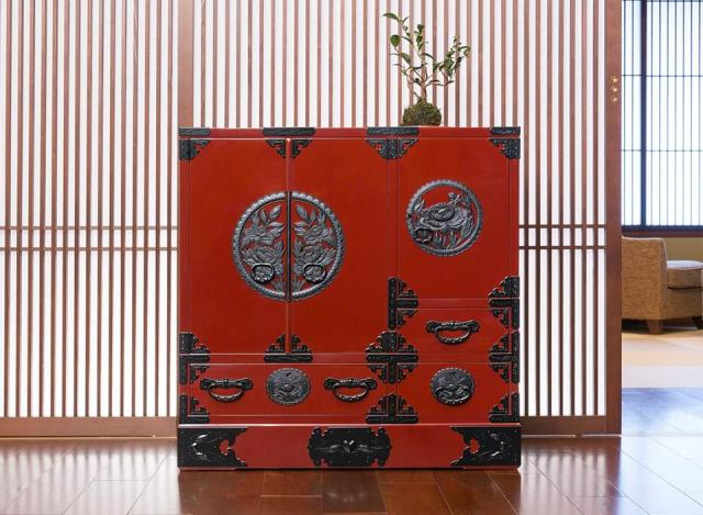 仙台箪笥 帖面箪笥 KB-29/KEB-29/KR-29 木地呂漆塗り/朱色漆塗り/伝統色漆塗り