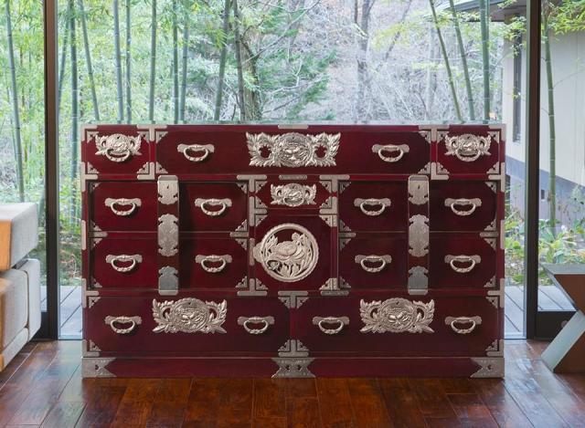 仙台箪笥 部屋箪笥 KB-50/KEB-50/KR-50 木地呂漆塗り/朱色漆塗り/伝統色漆塗り
