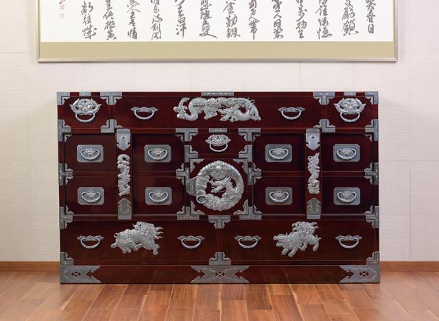 仙台箪笥 部屋箪笥 KD-5 小田俊直作 彫金手打金具【特注】
