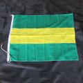 旗 700×900 緑黄緑 伴天 金具付