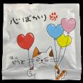 """【可愛い猫柄】メッセージ付きティーバッグ""""心ばかり"""""""