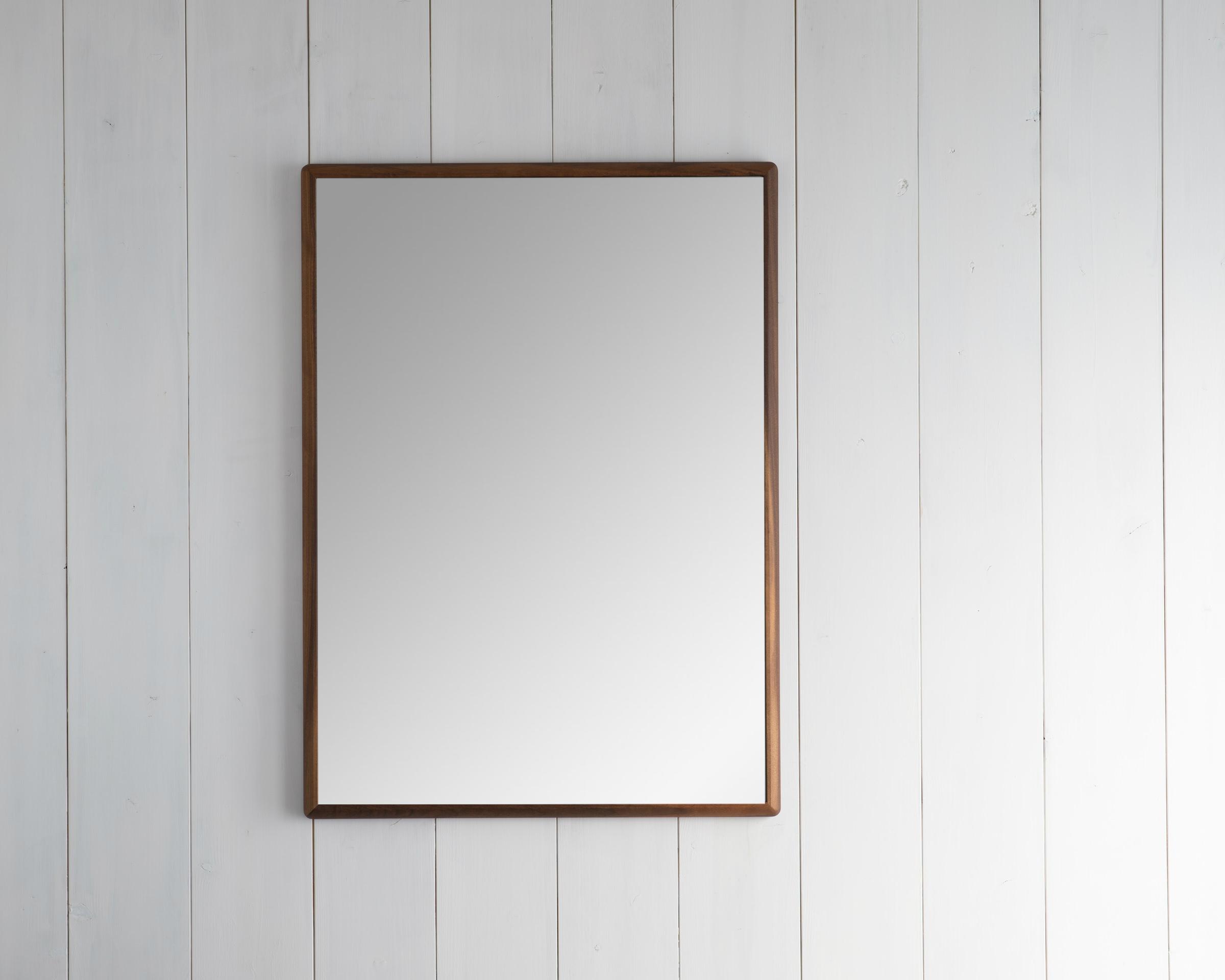 ステラ ウォールミラー ウォールナット W642×882 クリアー 壁掛け 全身 鏡 アンティーク調 日本製