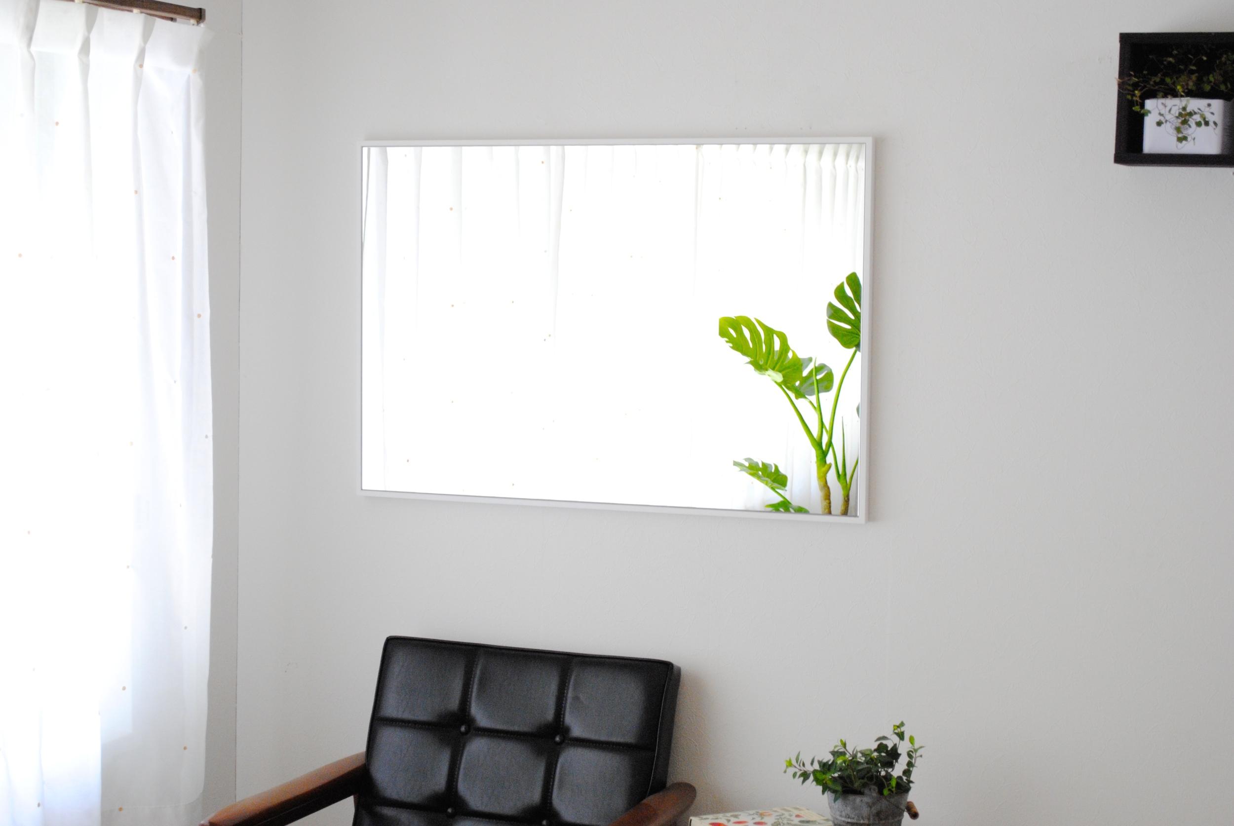 リブラ 62x92cm 全11色 姿見 壁掛けミラー 長方形 (通常便商品)