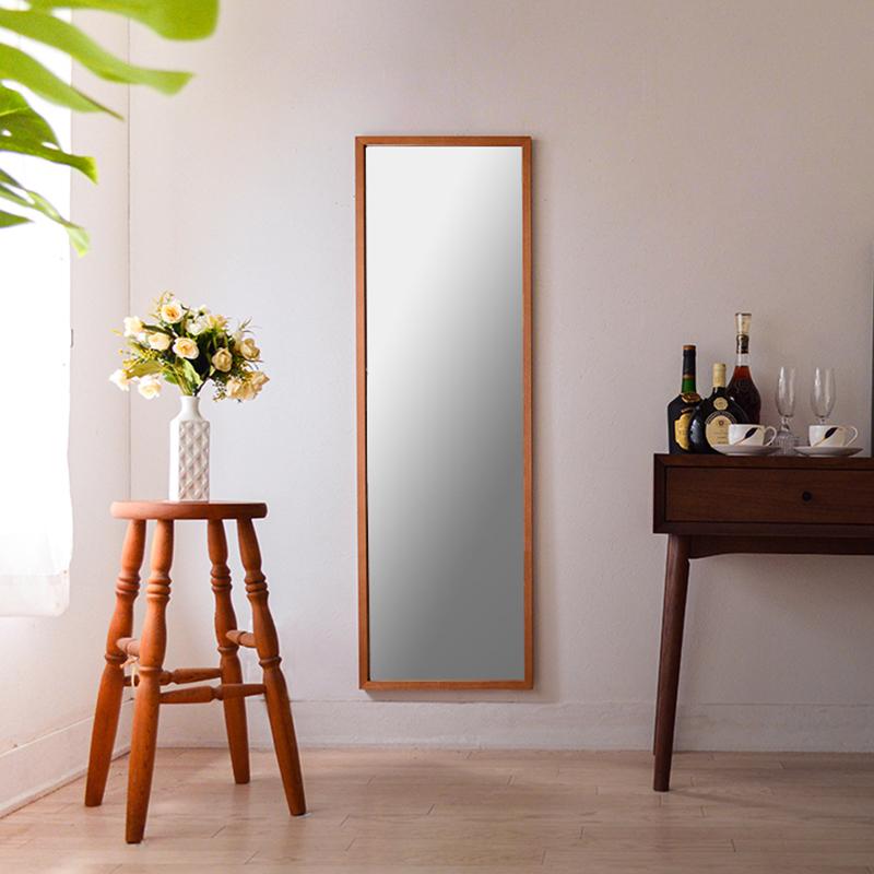 ジェミニ 41x130cm ホワイトアッシュ材 全2色 姿見 壁掛けミラー 全身鏡 (通常便商品)