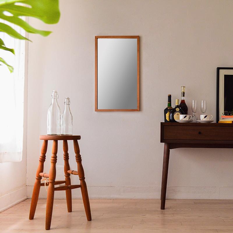 ジェミニ W410×700 ウォールミラー 長方形 ホワイトアッシュ
