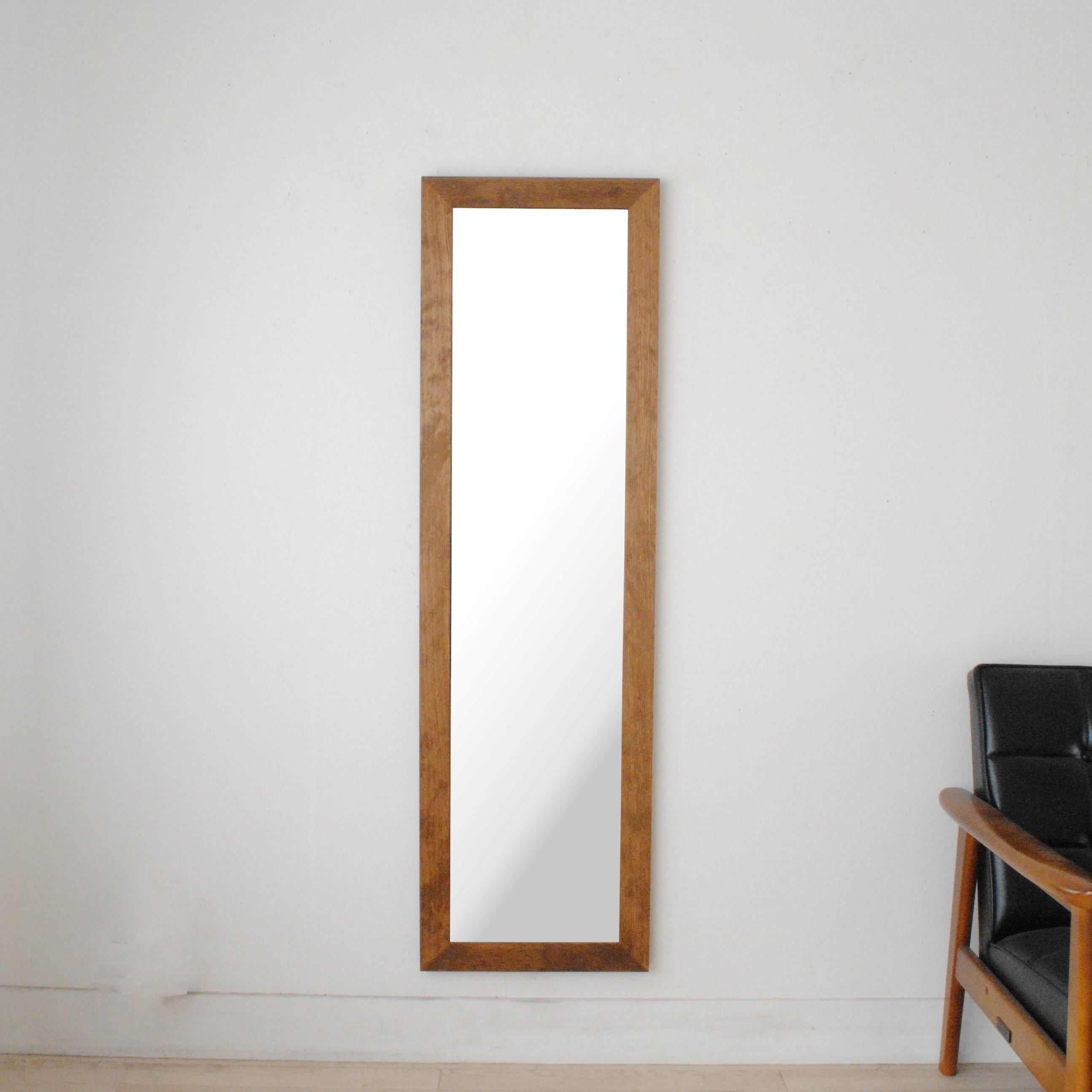 レオン 38x130cm 全3色 姿見 壁掛けミラー 全身鏡 (通常便商品)