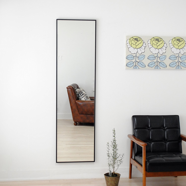 リブラ 42x153cm 全12色 姿見 壁掛けミラー 全身鏡 (通常便商品)