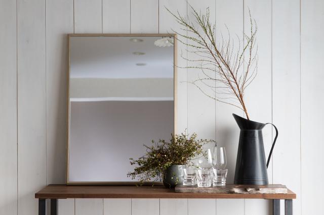 ステラ ウォールミラー ホワイトアッシュ W642×882 壁掛け 全身 鏡 アンティーク調 日本製
