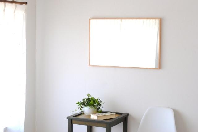 リブラ ウォールミラー W470×720 全身 鏡 壁掛け 姿見 天然木 日本製