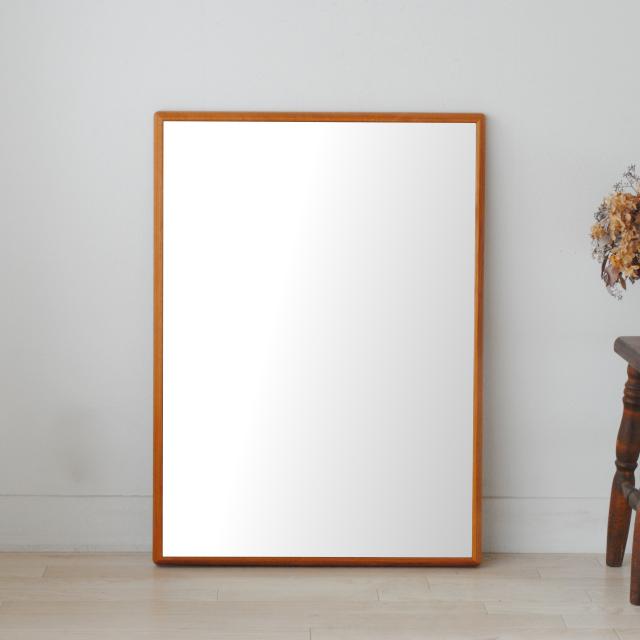 ステラ ウォールミラー アメリカンチェリー W642×882 クリアー 壁掛け 全身 鏡 アンティーク調 日本製