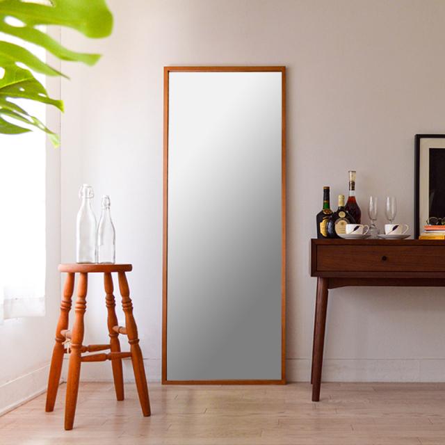 ジェミニ 60x155.5cm ホワイトアッシュ材 全2色 姿見 壁掛けミラー 全身鏡 (大型商品)