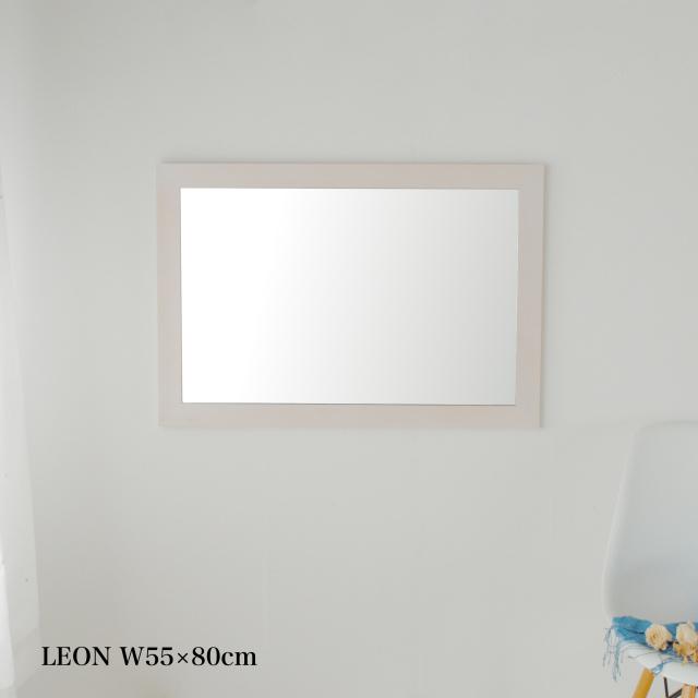 【限定カラー】レオン ウォールミラー アンティーク調 壁掛け 全身 鏡 日本製 ウッディーホワイトカラー