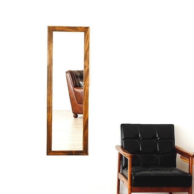 【新サイズ】 レオン 38x130cm 全3色 姿見 壁掛けミラー 全身鏡 (通常便商品)
