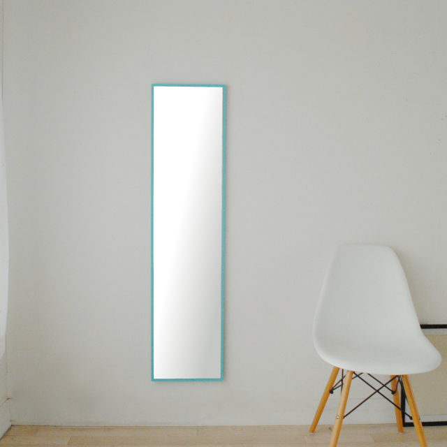 【新サイズ】 リブラ 30x122cm 全11色 姿見 壁掛けミラー 全身鏡 (通常便商品)