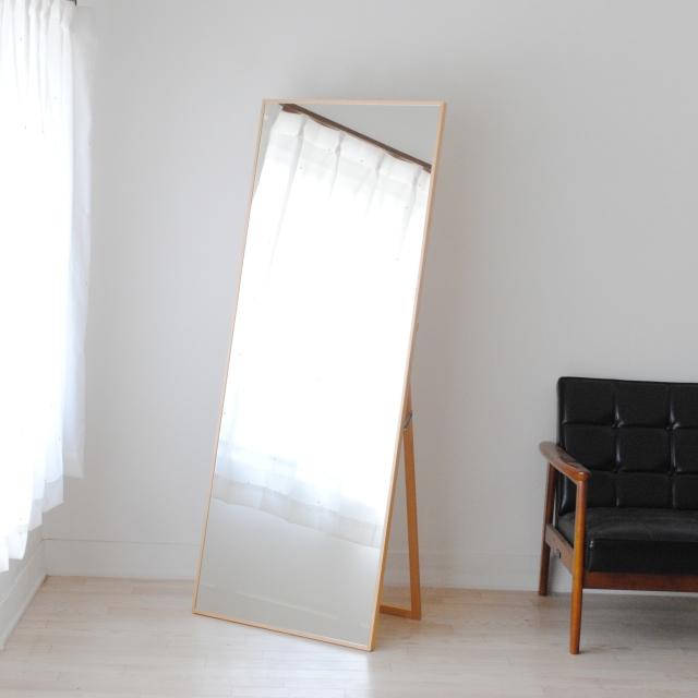 リブラ スタンドミラー 全身 鏡 姿見 天然木 日本製 W600×1530