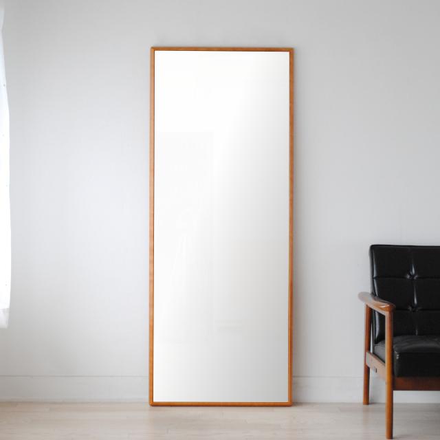ステラ ウォールミラー アメリカンチェリー W622×1552 クリアー 壁掛け 全身 鏡 アンティーク調 日本製