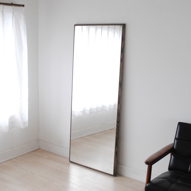 ステラ ウォールミラー ホワイトアッシュ W622×1552 壁掛け 全身 鏡 アンティーク調 日本製
