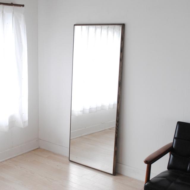 ステラ 62x155cm ホワイトアッシュ材 全4色 姿見 壁掛けミラー 全身鏡 (大型商品)