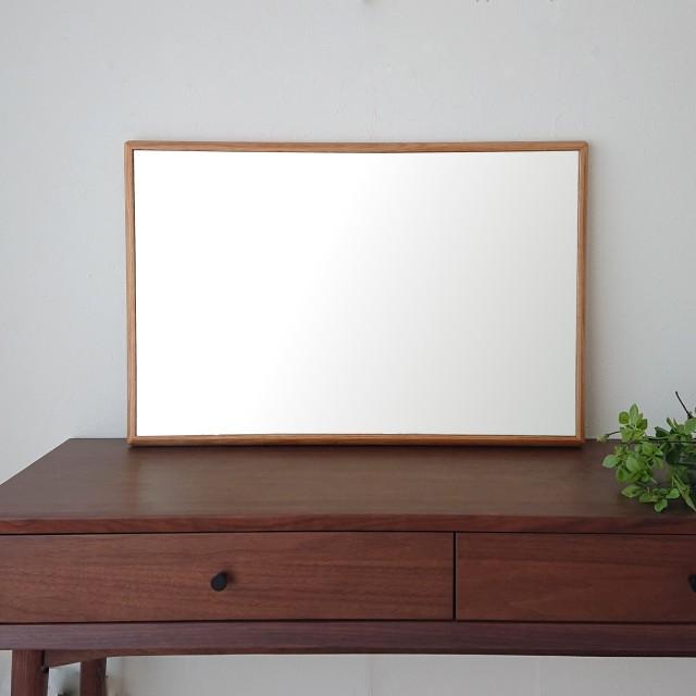 ステラ 49.2x74.2cm ホワイトオーク材 姿見 壁掛けミラー 長方形 (通常便商品)