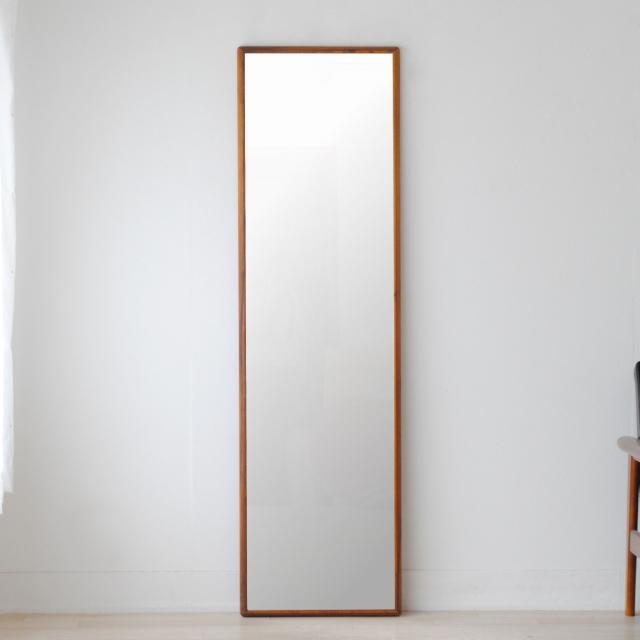 ステラ 44.2x155.2cm ホワイトアッシュ材 全4色 姿見 壁掛けミラー 全身鏡 (大型商品)