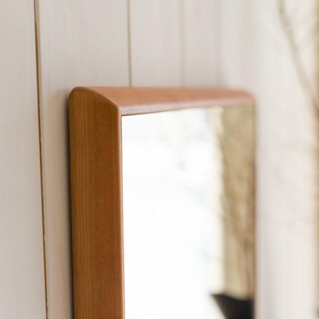 新築造作洗面台センノキSENNOKI鏡おしゃれオーダーミラー日本製インスタ全身鏡大型ダンスリブラアメリカチェリー無垢