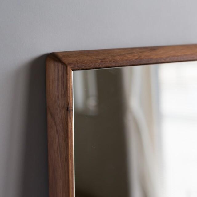 センノキSENNOKI鏡おしゃれウォールナットオーダーミラー日本製インスタ全身鏡大型ダンスリブラ壁掛け新築美容室