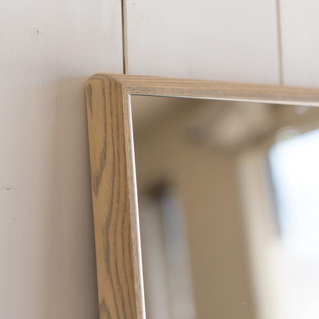 ステラ ウォールミラー ホワイトアッシュ W542×1022 壁掛け 全身 鏡 アンティーク調 日本製