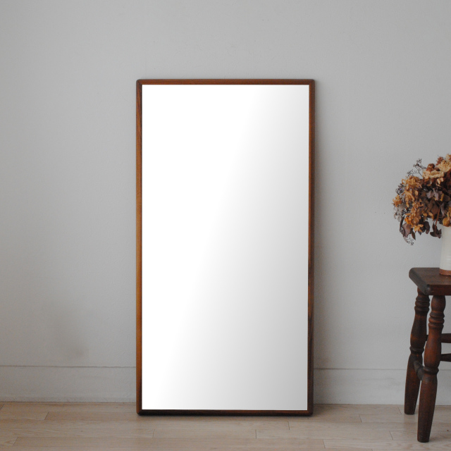 ステラ 54x102cm ホワイトアッシュ材 全4色 姿見 壁掛けミラー 長方形 (通常便商品)