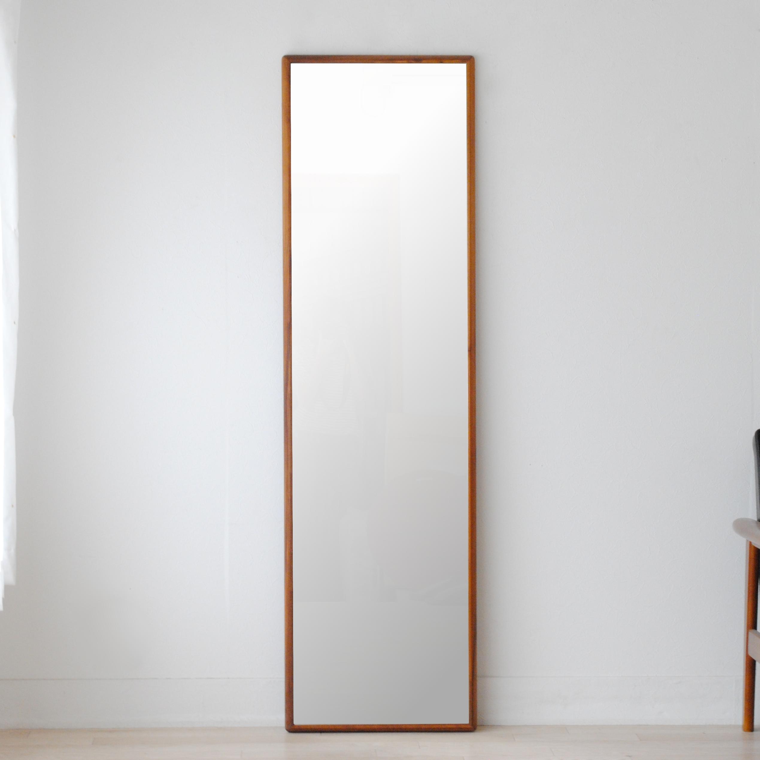 ステラ 44x155cm ホワイトアッシュ材 全4色 姿見 壁掛けミラー 全身鏡 (大型商品)