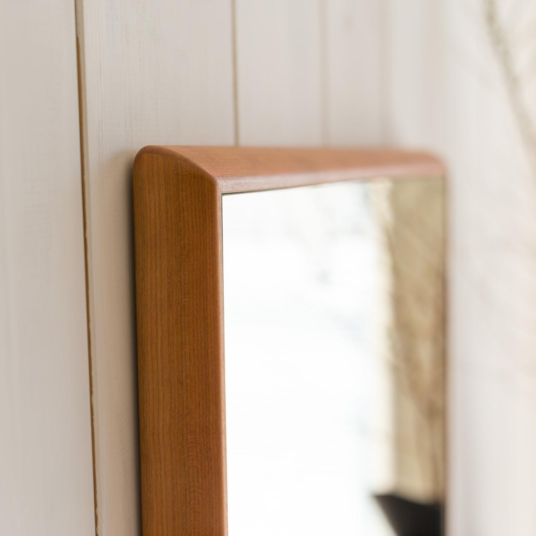 ステラ 54.2x102.2cm アメリカンチェリー材 姿見 壁掛けミラー 長方形 (通常便商品)