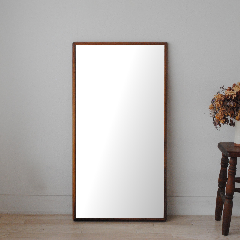 ステラ 54.2x102.2cm ホワイトアッシュ材 全4色 姿見 壁掛けミラー 長方形 (通常便商品)