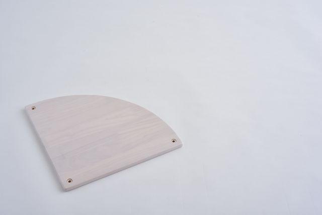ラバーラック扇棚板 ホワイトR400